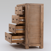 chest of drawers and pedestal set