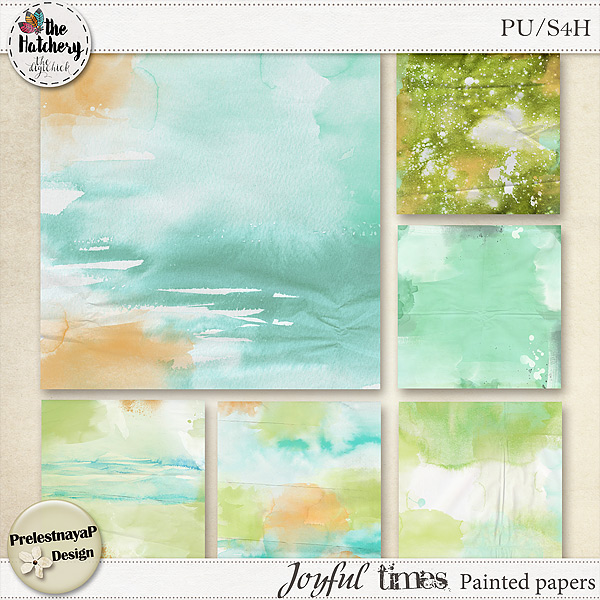 Time for The Hatchery at The DigiChick - New Joyful times Collection, new Templates and Freebie!