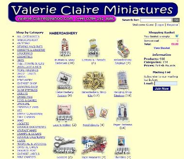 Haberdashery & Other Items from Valerie Claire Miniatures