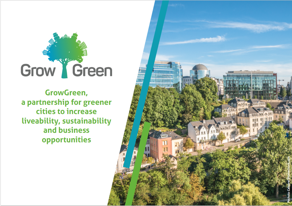 Front page of GrowGreen leaflet
