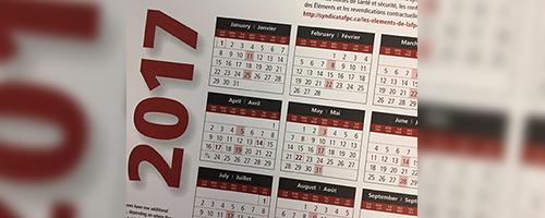 PSAC Calendars