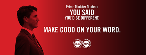 Demand respect for public service workers by sending a message to Prime Minister Trudeau now.