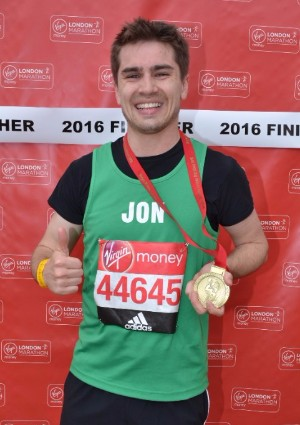Image of Jon with his finishers medal