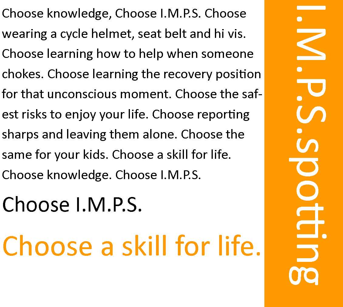 a choose IMPS monologue in the style of the film trainspotting