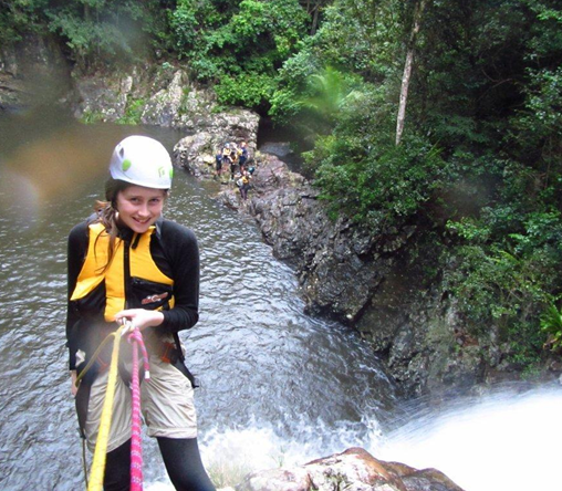 Zoe Abseiling