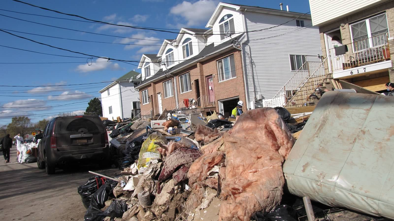 Devastation on Staten Island, NY