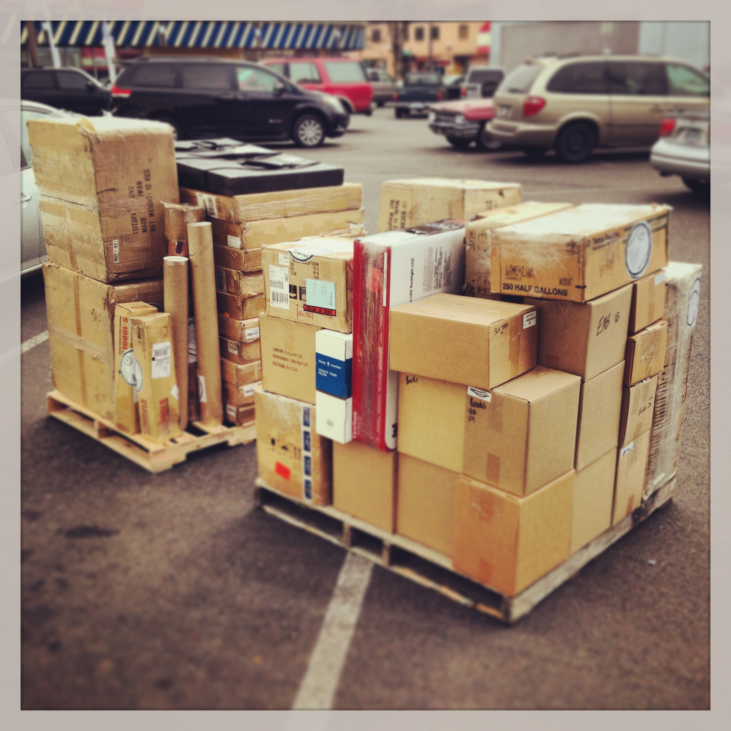 Our TMEA pallets are loaded up! Come see us in booth 2755!
