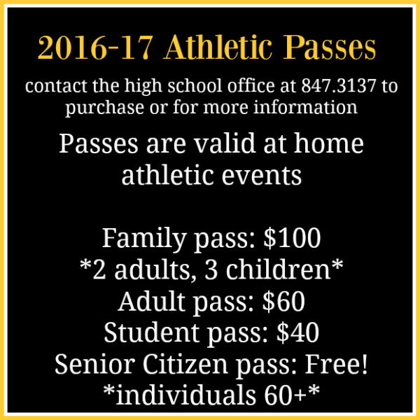 Click here for athletic schedules