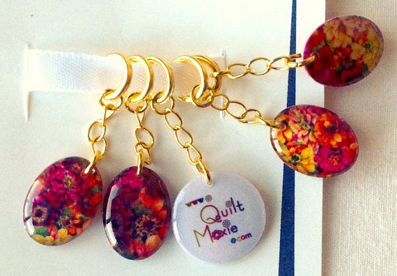 Flower Giggles Resin Stitch Markers