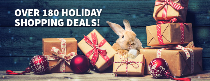 Over 180 holiday shopping deals!