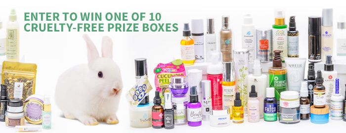 Enter to Win one of ten cruelty-free prize boxes