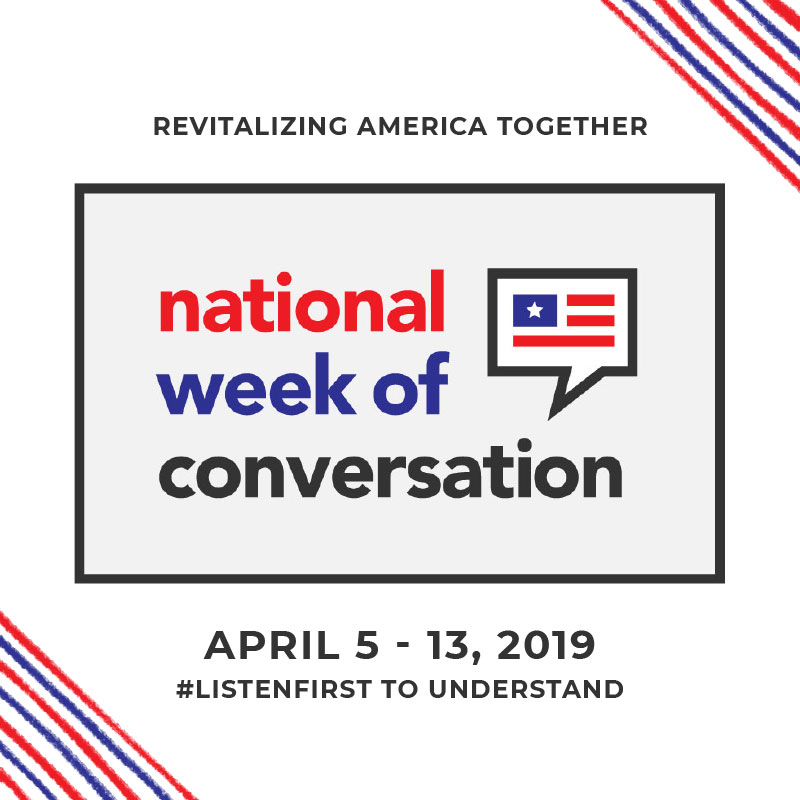 Graphic for national week of conversation.