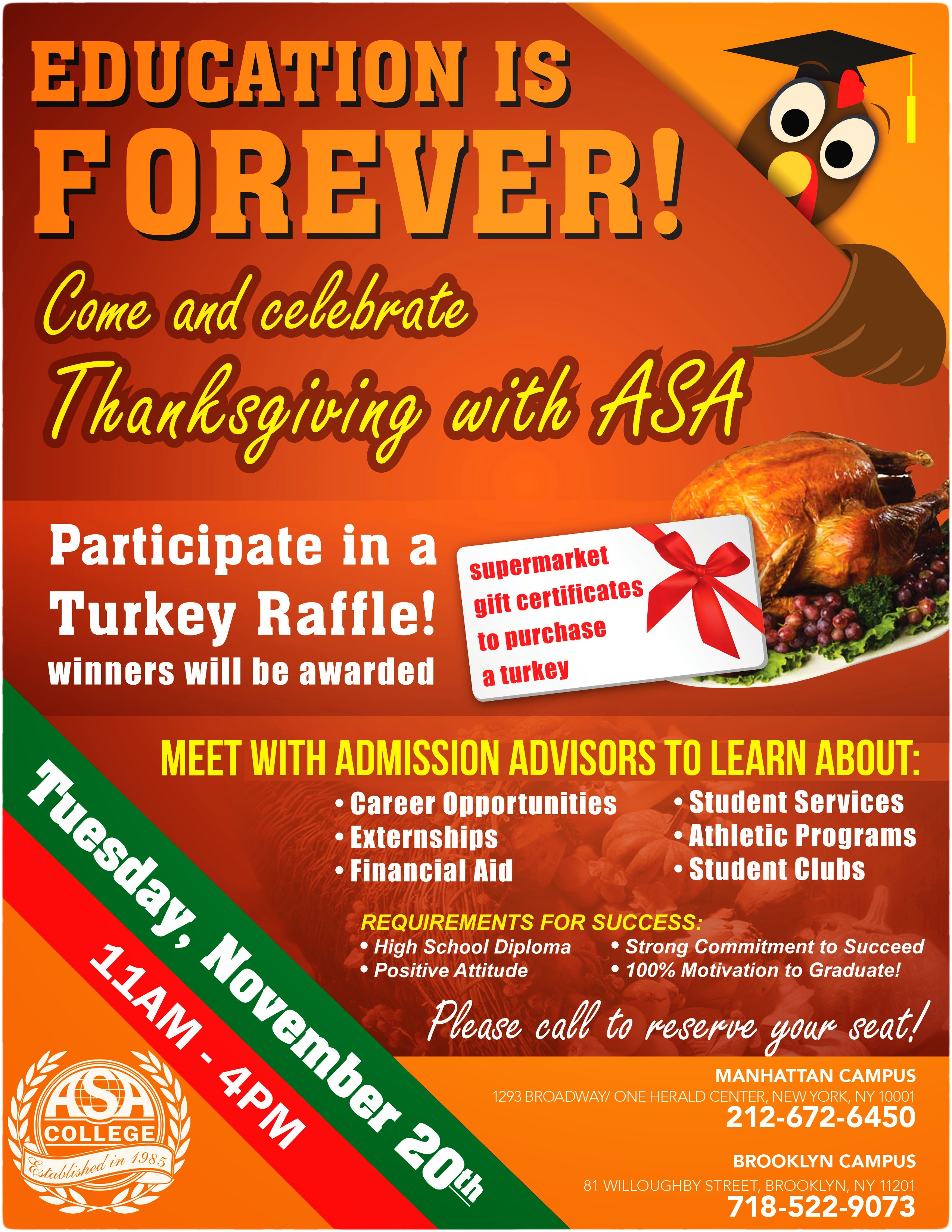 ASA College Thanksgiving