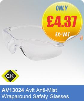 CK Tools AV13024 Avit Anti-Mist Wraparound Safety Glasses