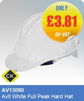 CK Tools AV13060 Avit White Full Peak Hard Hat