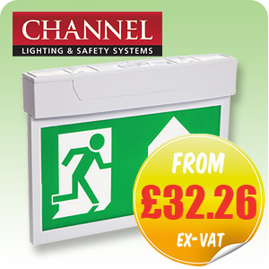 Channel Camber LED Exit Sign