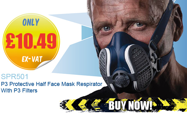 SPR501 P3 Protective Half Face Mask Respirator With P3 Filters