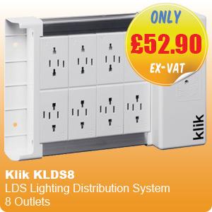 Klik KLDS8 LDS Lighting Distribution System 8 Outlets