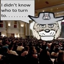 """Wilbur in the middle of a classroom with bubble saying """"I didn't know who to turn to..."""""""