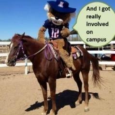 Wilbur on a horse