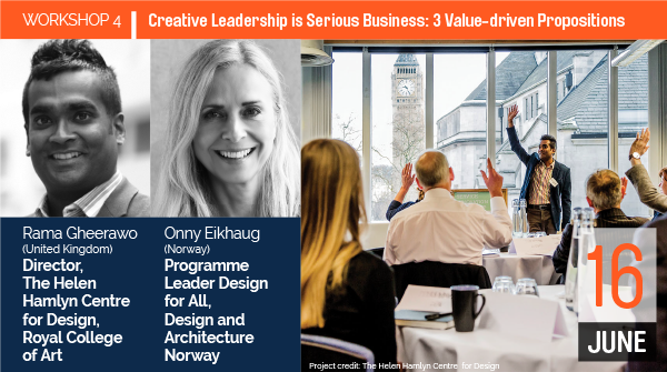 WORKSHOP 4 Creative Leadership is Serious Business: 3 Value-driven Propositions