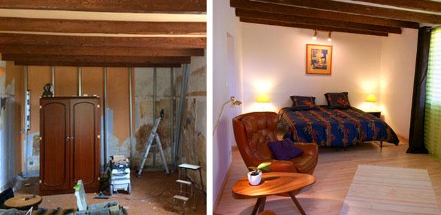 Nouveau mur, sol et plafond