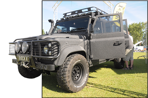 'Blackline' The Land Rover Defender Fully Coated in LINE-X