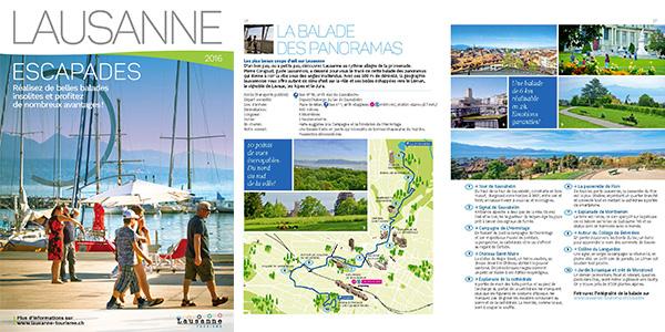 Brochure Lausanne Escapades