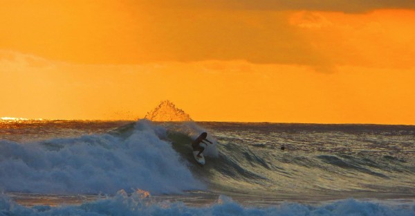 Dropping in, Nosara-style at sunset