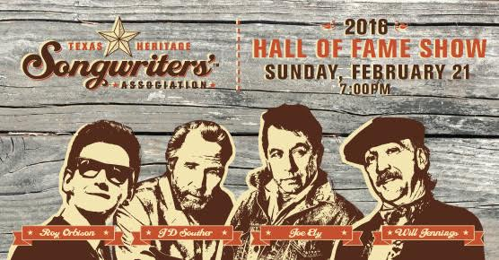 2016 Hall of Fame Inductees: Roy Orbison, JD Souther, Joe Ely and Will Jennings.