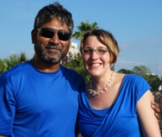 April with Sharif Jamil from Waterkeepers Bangladesh
