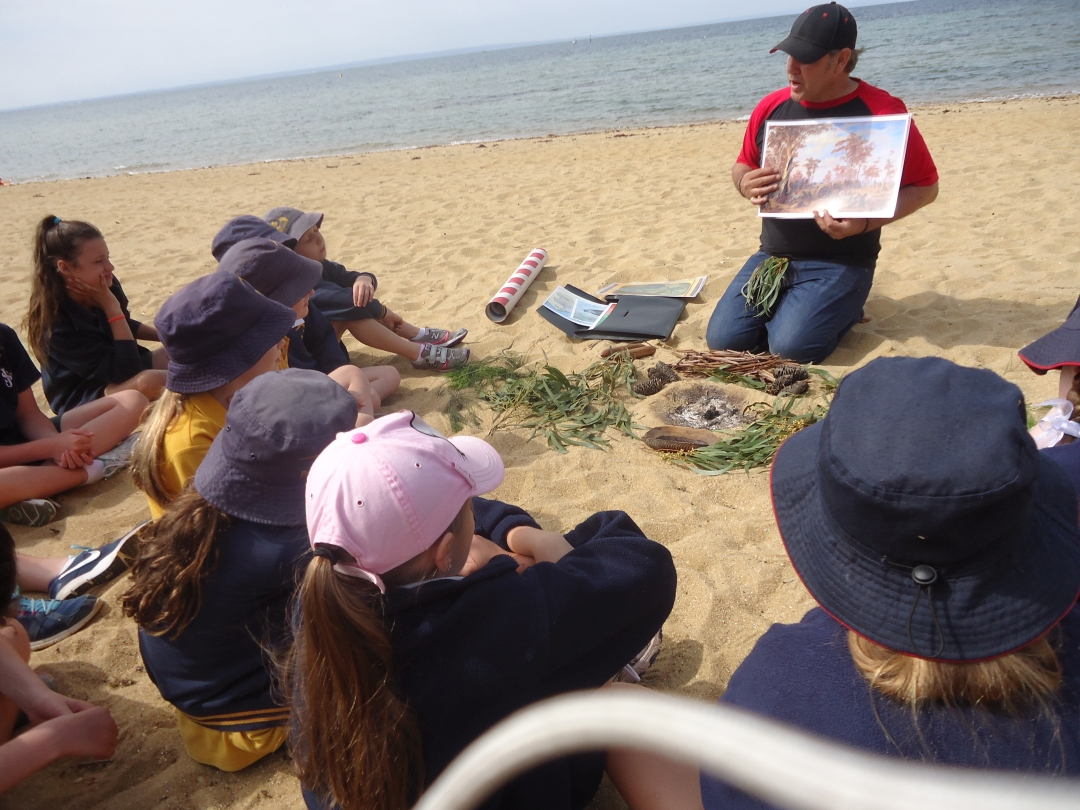 Storytelling Nature with Kids at the Beach.