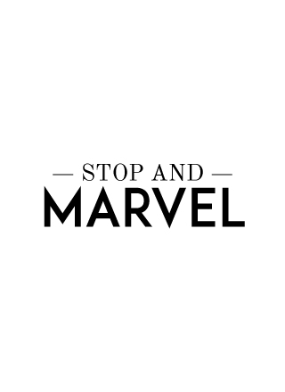Stop and marvel
