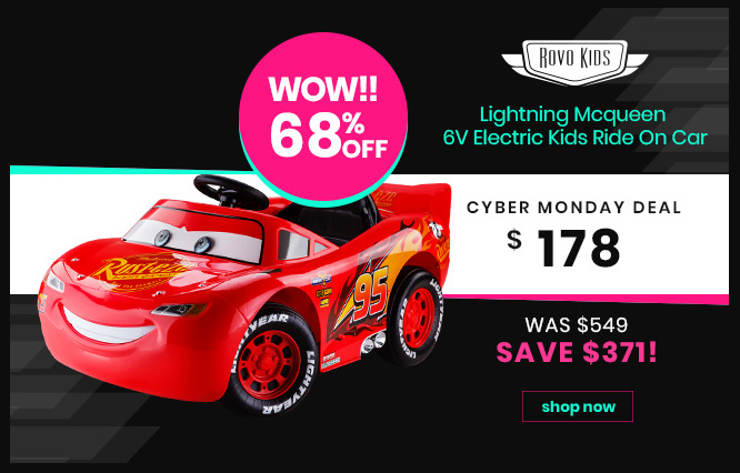 Lightning Mcqueen 6V Electric Kids Ride On Car