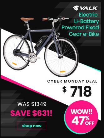 Electric Li-Battery Powered Fixed Gear e-Bike
