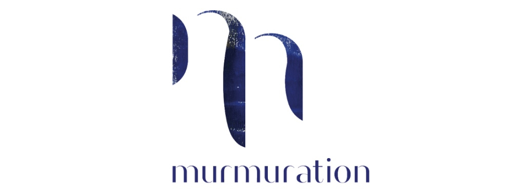 White Murmuration logo on a purple textured background