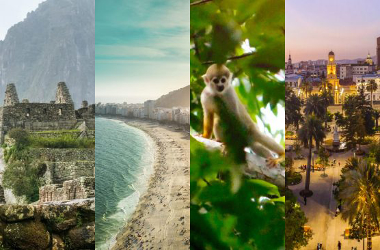 Machu Picchu, Rio, Amazon, Santiago