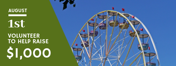 Volunteer at the Benton County Fair on August 1st to help CWC raise $1,000!