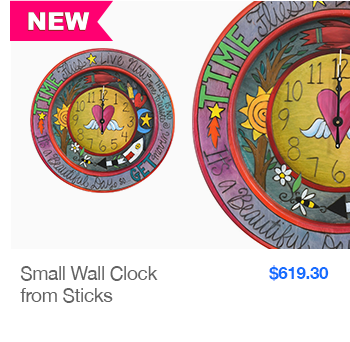NEW Small Wall Clock from Sticks