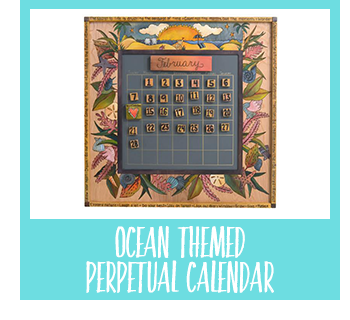 Shop Ocean Themed Perpetual Calendar