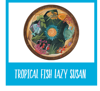 Shop Trobical Fish Lazy Susan