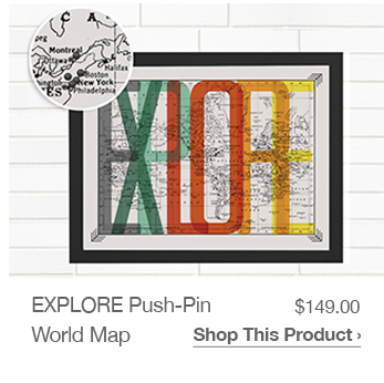 Shop EXPLORE Push-Pin World Map