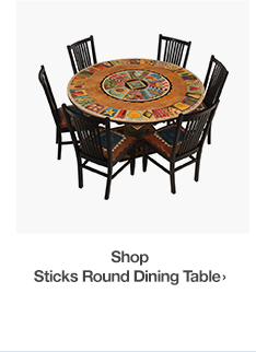 Sticks Round Dining Table