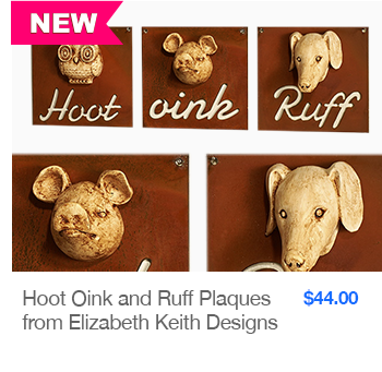 NEW Hoot Oink and Ruff Plaques from Elizabeth Keith Designs