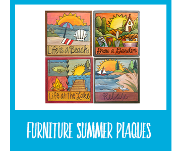Shop Furniture Summer Plaques