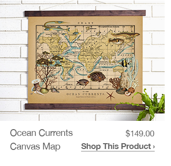 Shop Ocean Currents Canvas Map