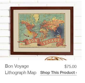 Shop Bon Voyage Lithography Map