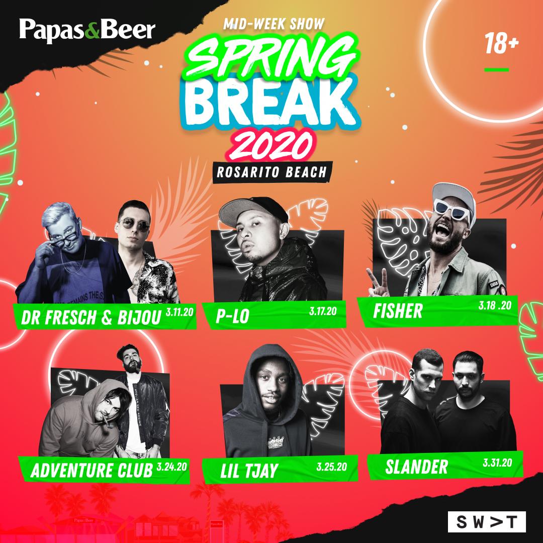 Rosarito Spring Break 2020 Lineup