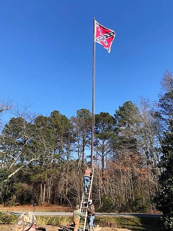 Dixie Rising: Another Roadside Memorial Battle Flag Raised in Virginia!