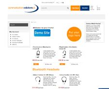 A bespoke web portal demo page